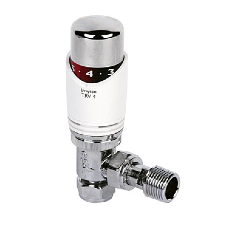 Drayton 15mm Angle Trv4 With Integral Head Thermostatic