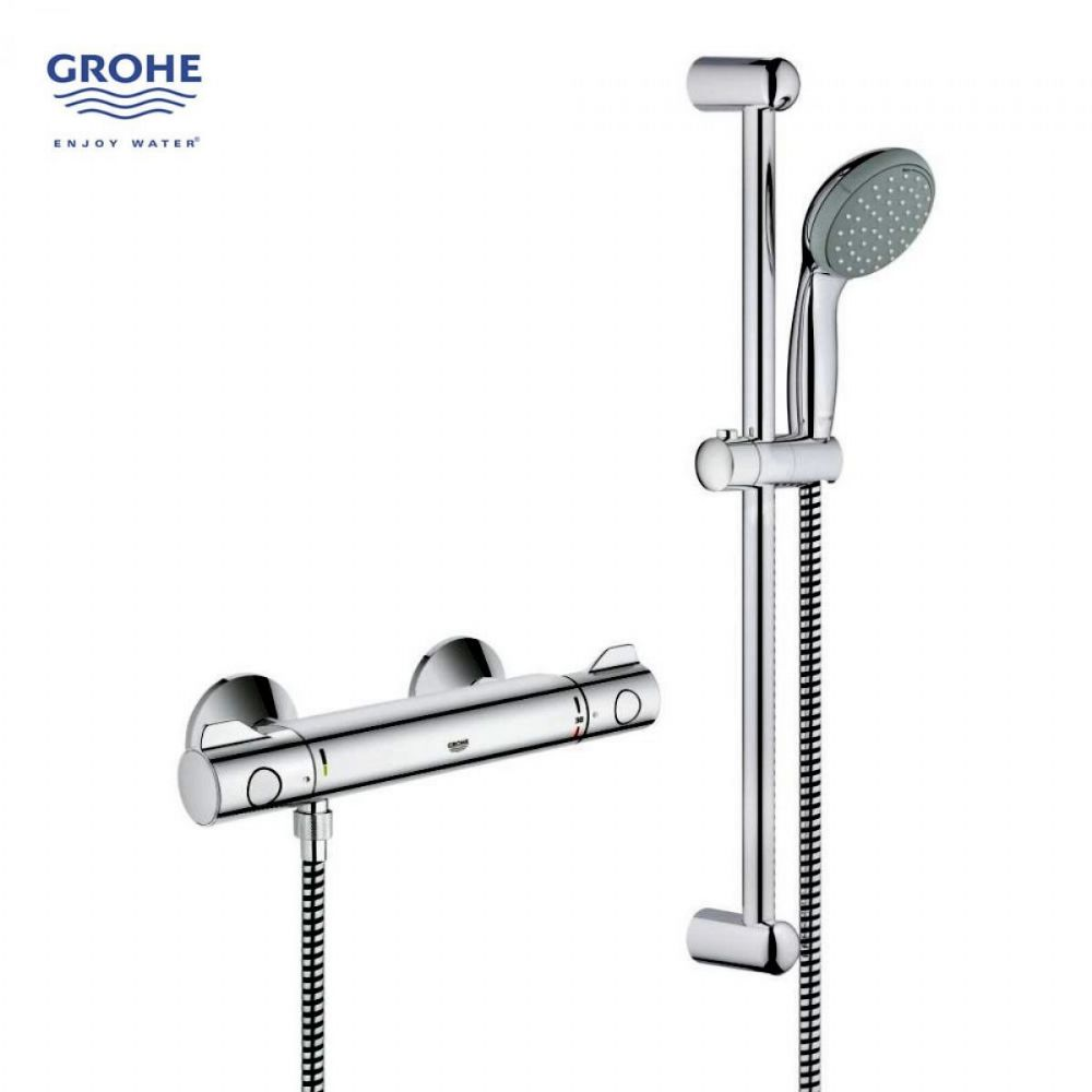 grohe grohtherm 800 shower set. Black Bedroom Furniture Sets. Home Design Ideas
