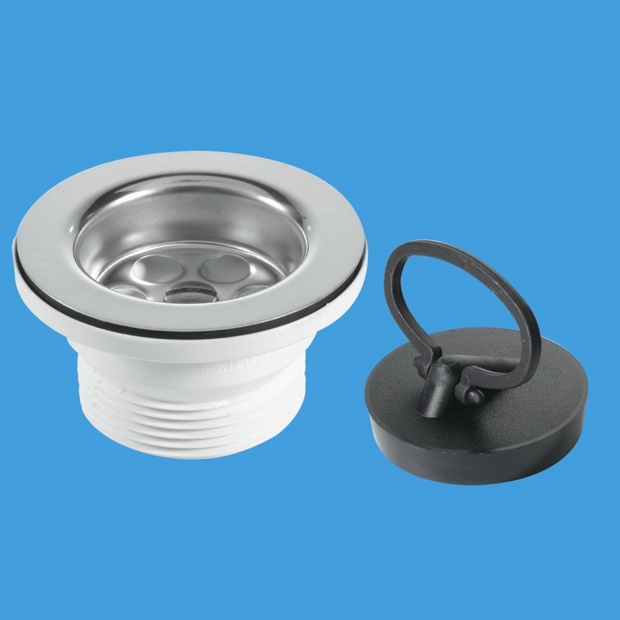 Mcalpine Bsw10pr 1 1 2 X 70mm Flange Sink Waste Outlet