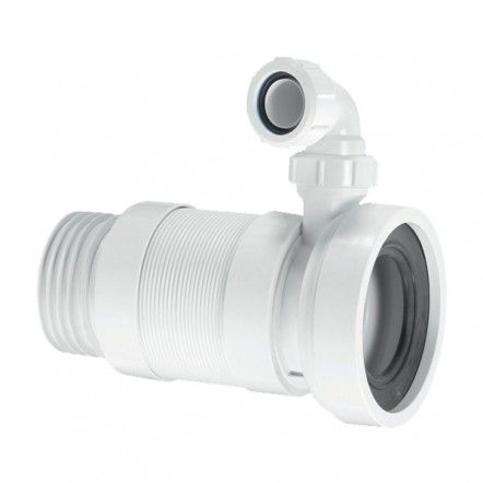 Mcalpine wc f23sv flexible wc connector 3 1 2 with for 90mm soil pipe